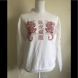 Brandy Melville Erica Honk Kong tigers sweatshirt